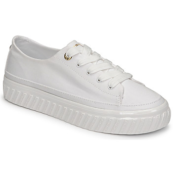 Tommy Hilfiger SHINY FLATFORM VULC SNEAKER women's Shoes (Trainers) in White. Sizes available:3.5,6.5